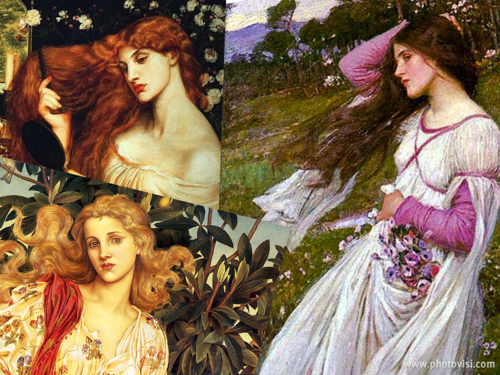 Lady Lilith-Rossetti Flora-Evelyn D Morgan Windflowers-Waterhouse