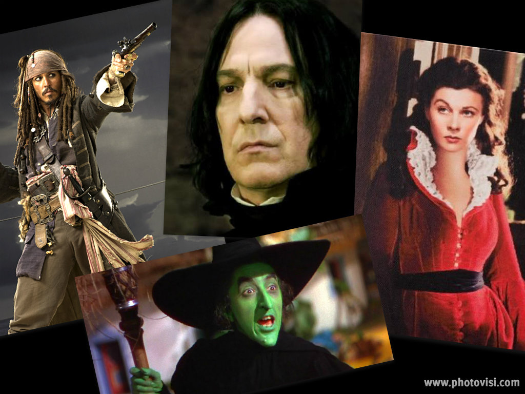 Jack Sparrow, Professor Snape, Scarlet O'Hara, Wicked Witch of the West